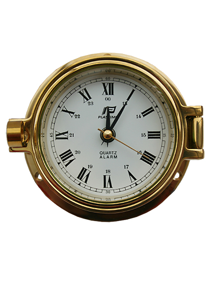 Brass clock with Alarm - Plastimo