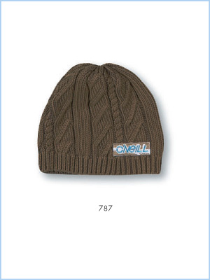 Cable beanie - paperbag brown