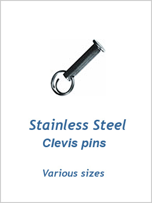 "Stainless Clevis pins 1/4"" x 7/8"" (6 x 22mm)"