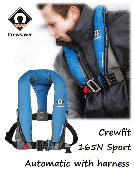 Crewfit 165N Sport - Automatic blue with harness