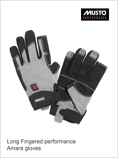Long fingered Amara gloves - black / titan (only 2XL now left)