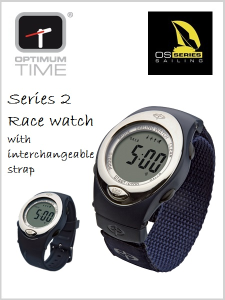 Optimum time OS 224V Race Watch with extra strap (Navy Blue)