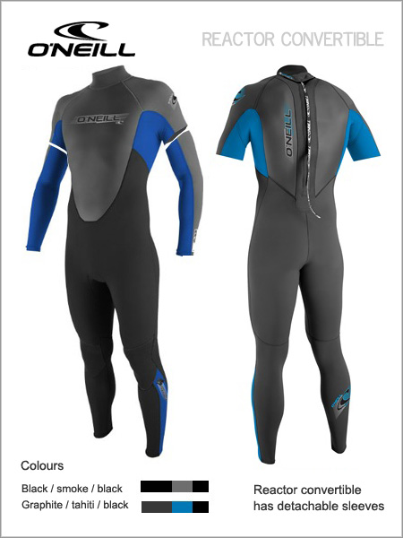 Reactor 3/2 Convertible wetsuit (only XL now left)
