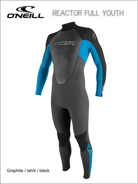 Reactor Full wetsuit (unisex) youth - Black / Tahiti