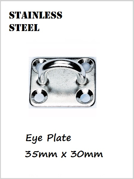 Stainless Steel Eye Plate / Pad Eye 35mm x 30mm
