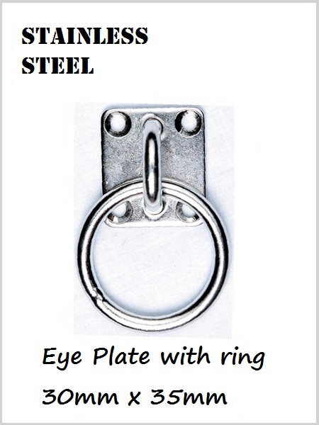 Stainless Steel Eye plate & ring 35mm x 30mm