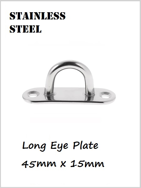 Stainless Steel Eye Plate Long 45mm x 15mm