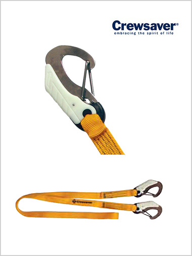 Self-locking 2 hook safety line