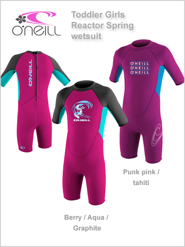 Toddler Reactor Spring wetsuit (shorty) - girls