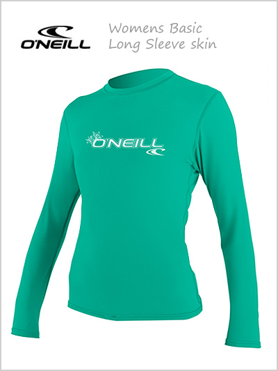 Basic skin long sleeve crew (womens) - Seaglass