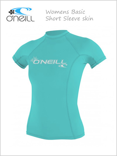Basic skin SS crew / rash guard (womens) - seaglass