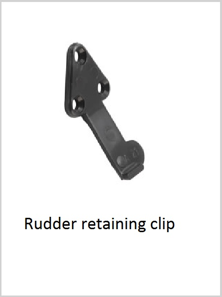 Acetal Rudder retaining clip - pack of 2