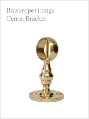 Rope fittings - brass center bracket