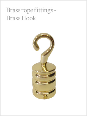Rope fittings - brass end hook