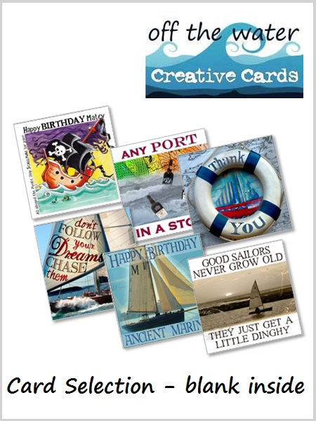Nautical Greetings Card Selection - 6 x blank inside