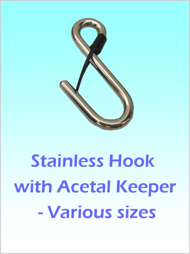 Stainless Hook with Acetal Keeper