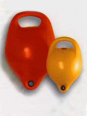 "Mooring pick up buoy - Diameter 22"" x 8"" - Fluoro Orange"