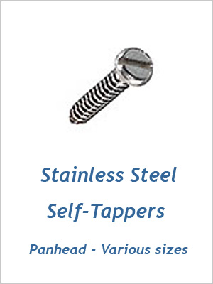 "Self-tapper screw pan head - 10 x 1/2"" (4.8 x 13mm)"