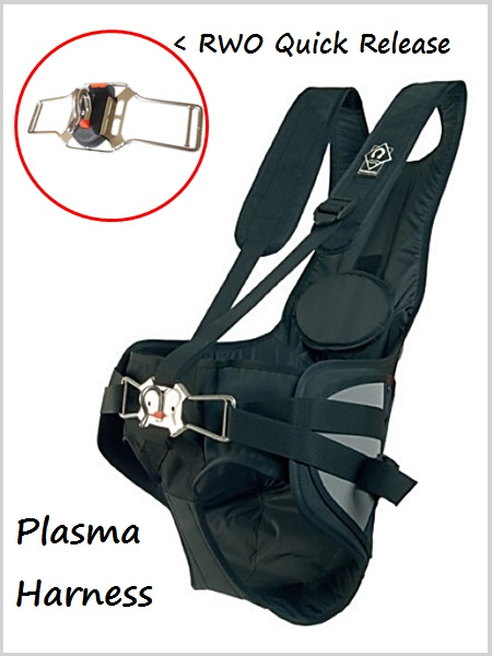 QR Plasma Trapeze Harness (with quick release hook)