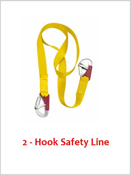 2 Hook Safety line - Plastimo