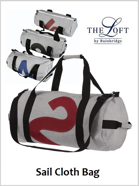 \'The Loft\' Sailcloth Barrel Bag - Large