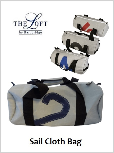 \'The Loft\' Sailcloth Barrel Bag - Medium