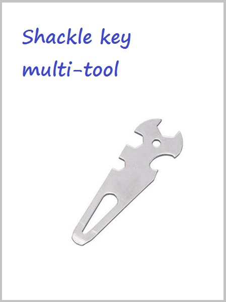 Shackle key / multitool