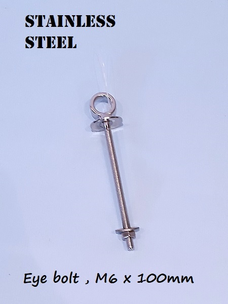 Stainless Steel shouldered Eye bolt 100mm