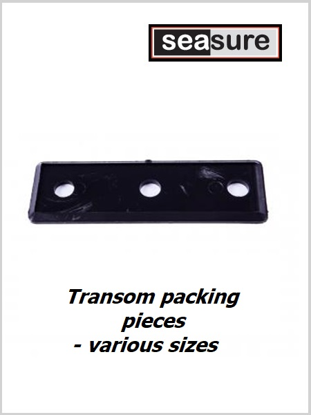 Transom/ Rudder Packing pieces - 3 holes, various sizes