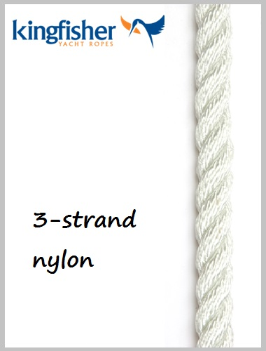 12mm - 3 strand nylon (white)