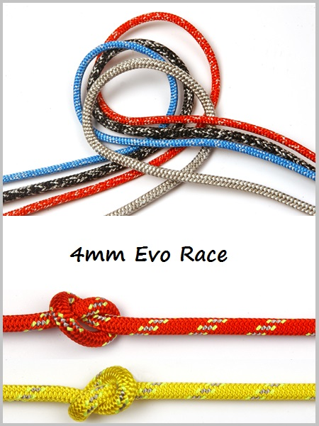 4mm - Evo Race Dyneema (Red or Yellow)