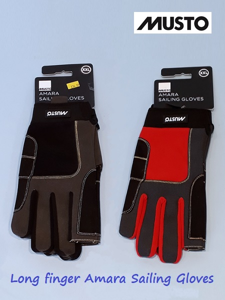 Long finger Amara sailing gloves -  XXL only