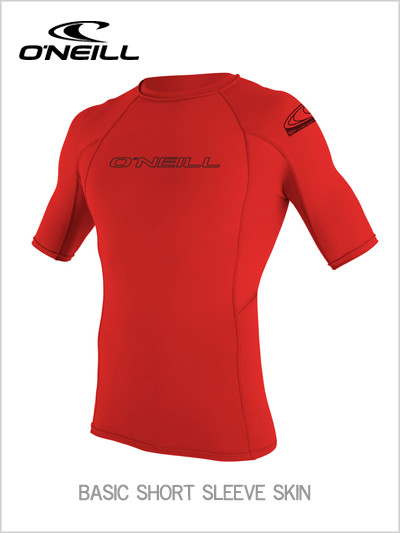Basic skin short sleeve crew / rash guard - Red