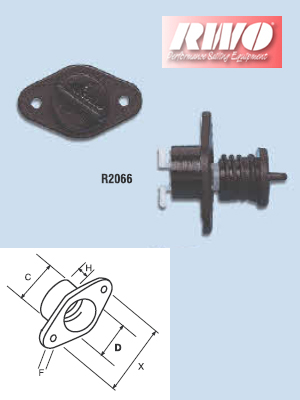 Bung with seal and socket (screw thread) - pair