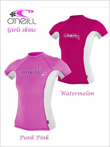 Girls skins - short sleeved crew / rash guard