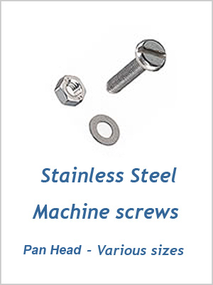 Machine Screw Pan Head M5 - sizes 25mm to 50mm