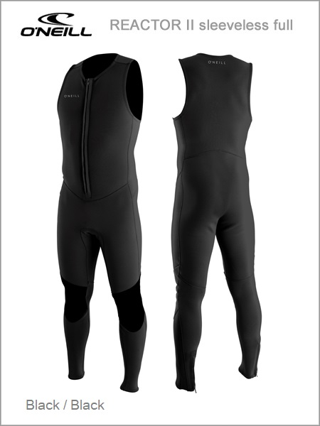 Reactor II Front Zip sleeveless full wetsuit - Black