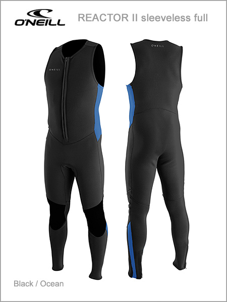 Reactor II Front Zip sleeveless full wetsuit - black / ocean
