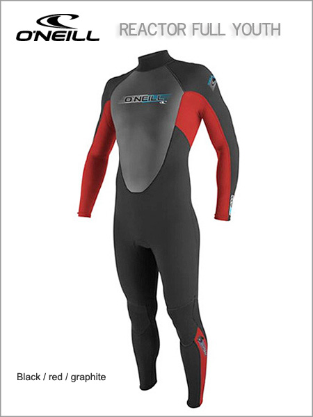 Reactor Full wetsuit (unisex) youth - Black / red