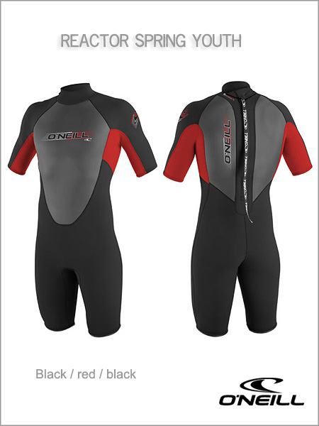 Reactor Spring wetsuit (shorty) youth - black / red