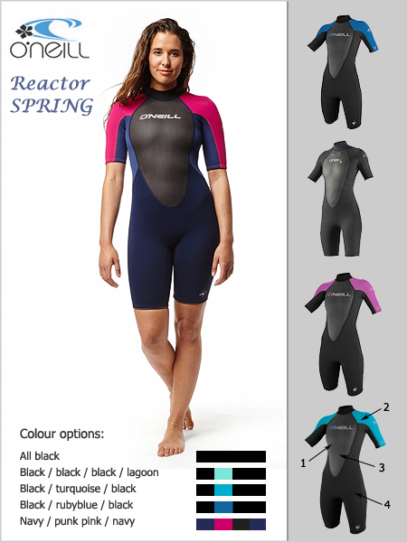 Reactor Spring wetsuit (shorty) - womens