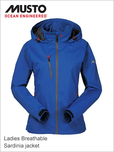 Sardinia breathable jacket Women - surf blue