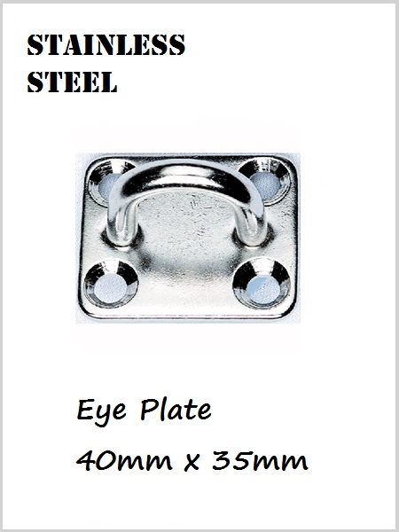 Stainless Steel Eye Plate / Pad Eye 40mm x 35mm