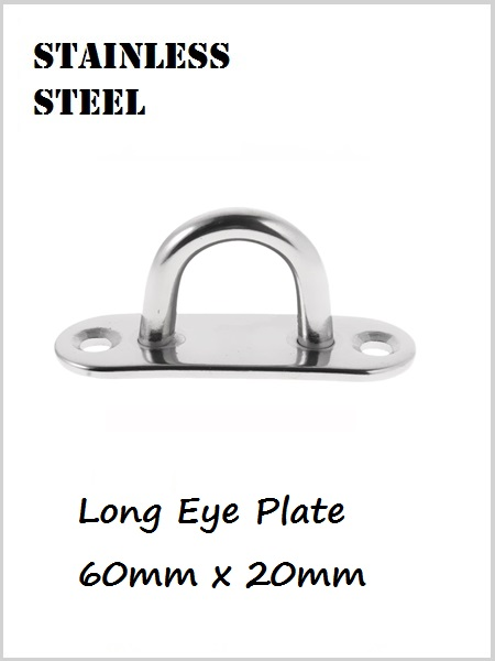 Stainless Steel Eye Plate Long 60mm x 20mm