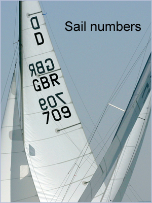 Sail Numbers - Black 300mm