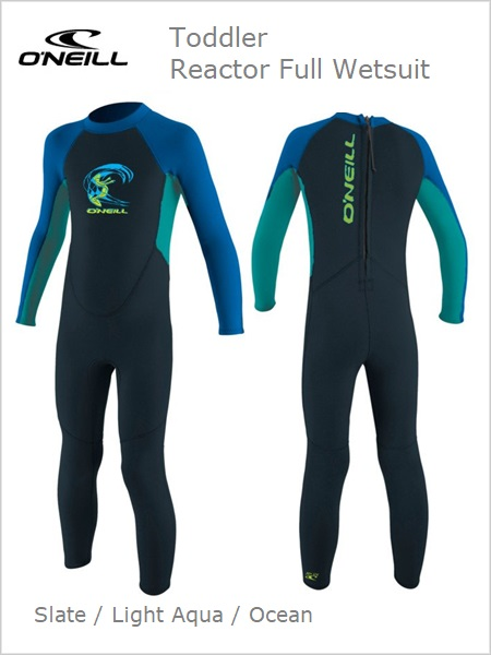 Reactor Full Wetsuit (unisex) Toddler - Slate/aqua/ocean