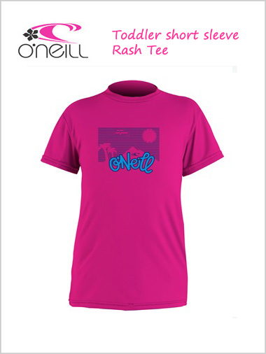 Toddler skins - short sleeved rash Tee (berry)