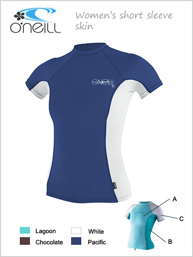 Short sleeve skin / rash guard - womens