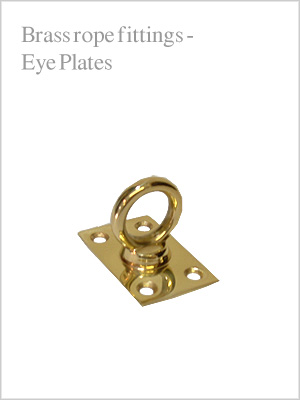 Rope fittings - brass eye plate