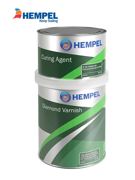 Hempel Diamond Varnish  2 pot polyurethane 750ml
